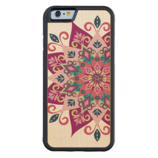 Mandala Bloom Maple Wood iPhone 6 Case