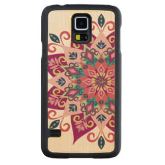 """Mandala Bloom"" Maple Wood Samsung Galaxy S5 Case Carved® Maple Galaxy S5 Case"