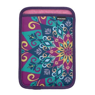 Mandala Bloom-Turquoise & Indigo Blue iPad Mini Sleeve