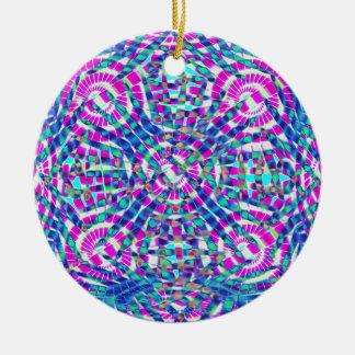 Mandala Blue Ceramic Ornament