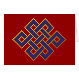 Mandala  Blue Karma Buddhism Eternal Knot Card
