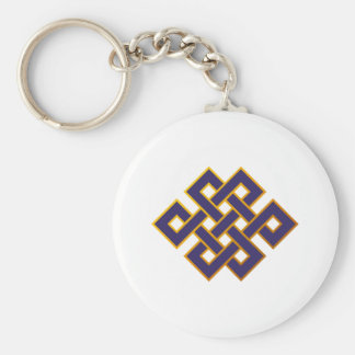 Mandala  Blue Karma Buddhism Eternal Knot Keychain