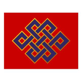 Mandala  Blue Karma Buddhism Eternal Knot Postcard