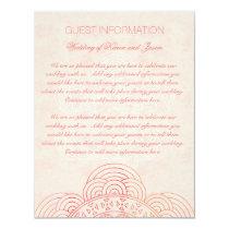 Mandala Boho Chic Wedding Guest Information Card