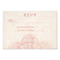 Mandala Boho Chic Wedding RSVP Cards