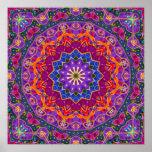 Mandala brillante de la India Impresiones