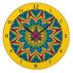 Mandala brillantemente coloreada 12-Sided Reloj De Pared