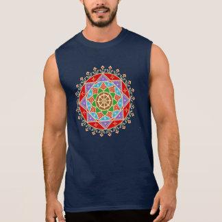 Mandala budista de la rueda de Dharma Camiseta Sin Mangas