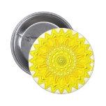 "Mandala Button ""amarillo 2 "" Pin"