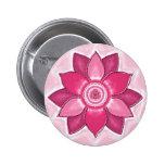 "Mandala Button ""Rojo "" Pins"