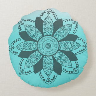 Mandala by Kimologie Round Pillow