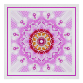 Mandala (C) from Radiant Orchid Closeup Photo Posters