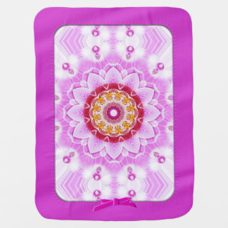 Mandala (C) from Radiant Orchid Closeup Photo Stroller Blankets