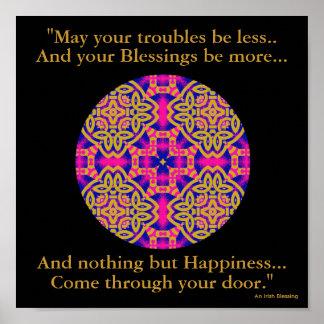 Mandala caleidoscópica de A40b - Blessing.2 irland Poster