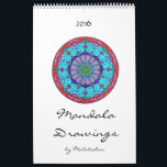 "Mandala Calendar 2016 (drawings)<br><div class=""desc"">This calendar for 2016 features my 'time out' mandala drawings. I left the background white, so you can choose the colours you want for yourself. The last page contains a mandala blueprint for you to colour after your own fashion. You'll find more blueprints on my website: www.malatichan.com. I hope you...</div>"