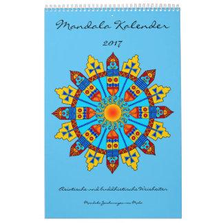 Mandala calendar with sayings 2017