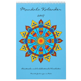 Mandala calendario con dichos 2017