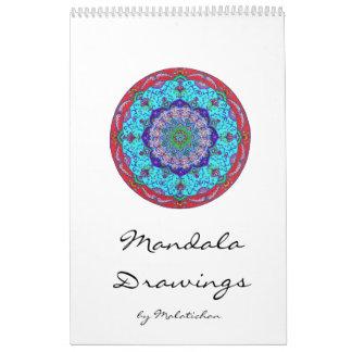 Mandala calendario (Zeichnungen Wandkalender)