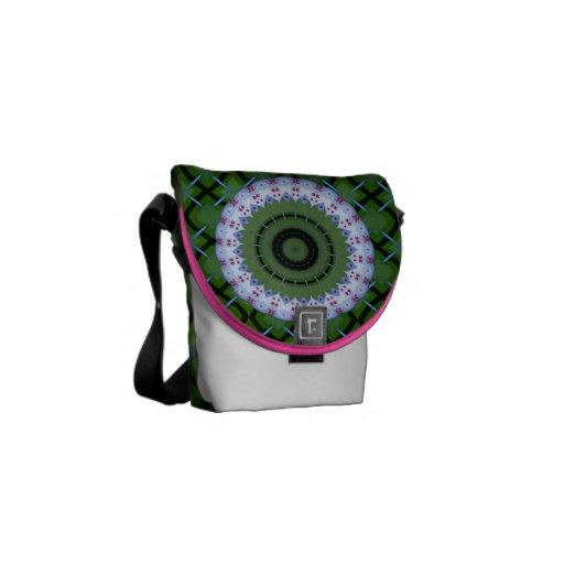 Mandala calurosa del caleidoscopio de la rueda bolsa de mensajeria