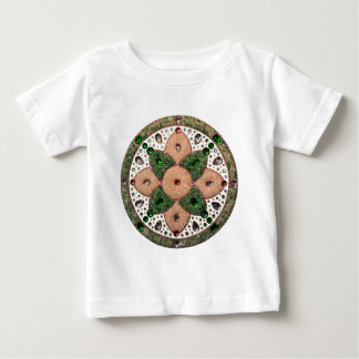 Mandala Cardiac Chacra Quartz Rose and Verde Baby T-Shirt