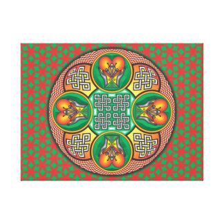 Mandala Caridade Impressão De Canvas Envolvidas