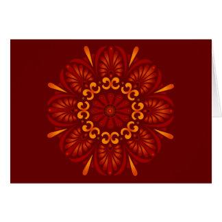 Mandala carmesí Notecard Tarjeta