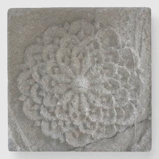 Mandala Carved Stone Photo Marble Stone Coaster