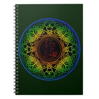 Mandala Celta de protección con Dragón - M1 Libro De Apuntes
