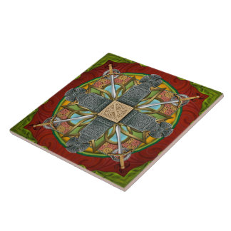 Mandala Celtic Cross Tile
