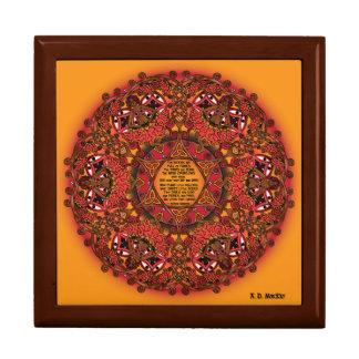 Mandala céltica de la hada de la caída cajas de recuerdo