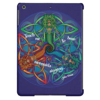 Mandala céltica de la sirena funda iPad air