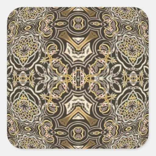 Mandala céltica del caleidoscopio del placer del pegatina cuadrada