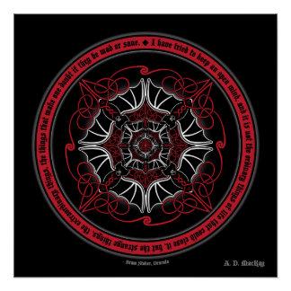 Mandala céltica del palo de vampiro perfect poster