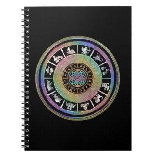 Mandala céltica del zodiaco del arco iris libreta
