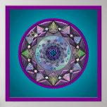 Mandala céltica enmarcada en tonalidades frescas impresiones