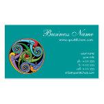 Mandala céltica hermosa con remolinos coloridos