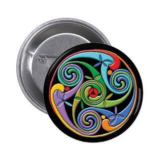 Mandala céltica hermosa con remolinos coloridos pins