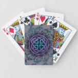 Mandala céltica Jeweled del fractal Barajas De Cartas