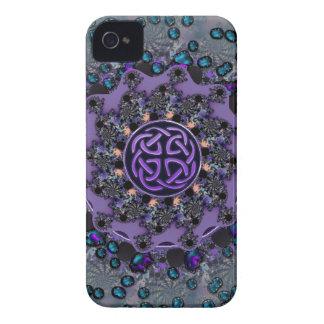 Mandala céltica Jeweled del fractal iPhone 4 Protector