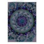 Mandala céltica Jeweled del fractal Tarjeta De Felicitación