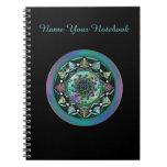 Mandala céltica personalizada con símbolos cuaderno