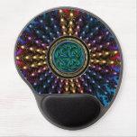 Mandala céltica radiante del nudo de Sun Alfombrilla Gel