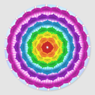 Mandala Chakra Classic Round Sticker