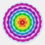 Mandala Chakra Round Stickers
