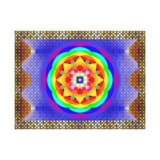 Mandala Chakras Impressão De Canvas Esticadas
