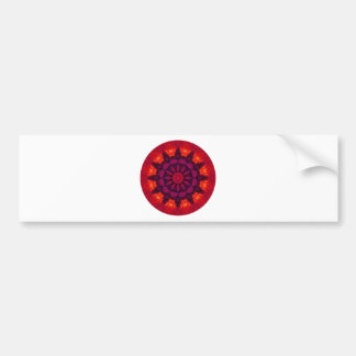 Mandala Circle Bumper Sticker
