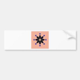 Mandala circle bumper sticker