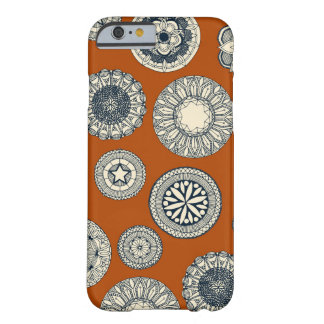 mandala cirque spot orange barely there iPhone 6 case