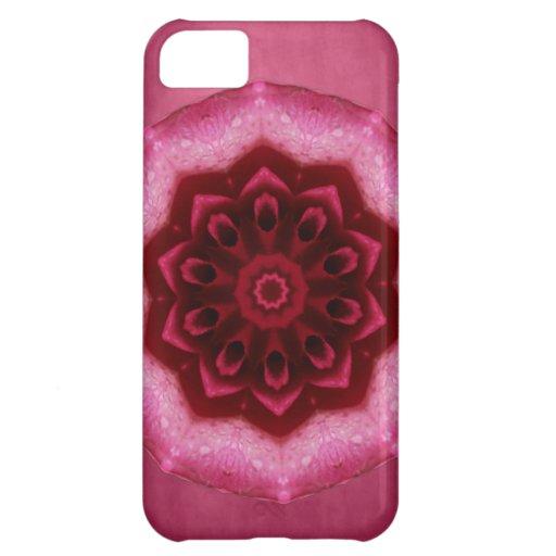 Mandala color de rosa funda para iPhone 5C