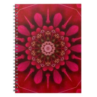 Mandala color de rosa libretas espirales
